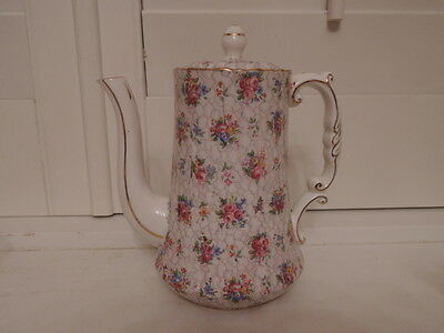 Gorgeous Vintage Hammersley Chintz Coffee Pot/Teapot Pink Roses