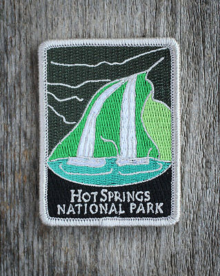 Hot Springs National Park Souvenir Patch Traveler Series Iron-on Arkansas