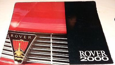 1965 Rover 2000 P6 promotional brochure