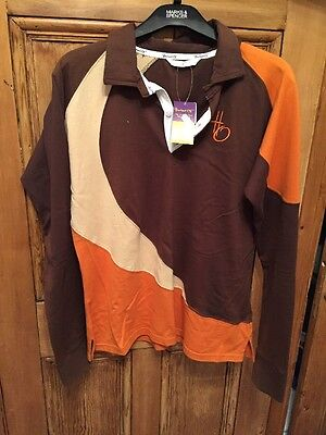 Hacked Off Long Sleeved Polo Shirt. Bnwt Size Large