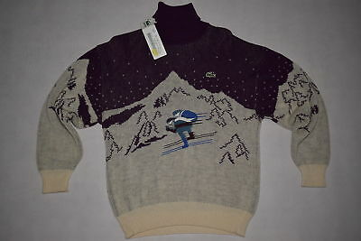 Lacoste Pullover Pullover Sweatshirt Sweater Vintage 90s Wolle Ski Winter 42 NEU