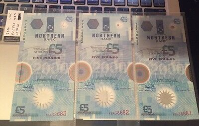 Uncirculated Northern Bank 2000 Polymer Banknote £5 Pounds Scarce Prefix Y2K