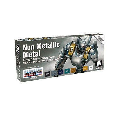 Vallejo MODEL Color: Non Metallic Metal - SET 8 colori acrilici 17 ml