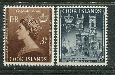 Cook Islands: 1953 QE2 Coronation set SG160-1 LMM AE211