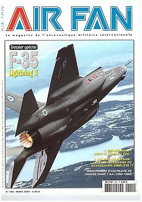 revue AIR FAN n ° 340 DOSSIER SPECIAL F-35 LIGHTNING II - SOUVENIRS PILOTE CHASS