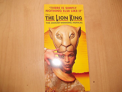 **The Lion KIng The Musical Flyer At Lyceum Theatre London**