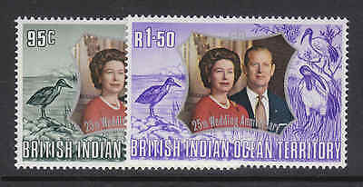 British Indian Ocean Territory set of  stamps Royalty MNH