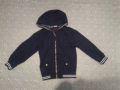 Boys Aged 4-5 Years Blue Hooded Coat