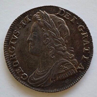 1739 Sixpence- George Ii British Silver Coin 'o' Over 'r'  Vf/nef - Very Rare!
