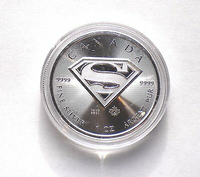 2016 Silver Canadian One Ounce .9999 Superman S-Shield $5 Coin