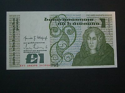 ***Irish** Central Bank Lavery  £1  'GEF' Crisp & Clean  1984 Banknote***