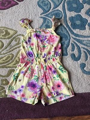 Girls Playsuit 2 3 Years Yellow