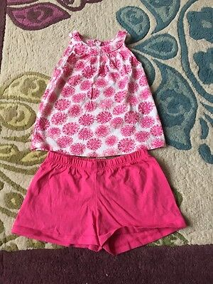 Girls Vest and Shorts 2 3 Years Mothercare