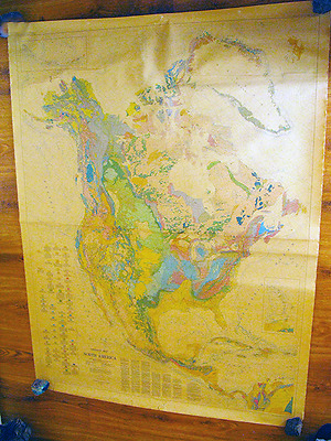 "Gigantic 77"" x 58"" Vintage 1965 Geologic of the United States Wall Old Map Chart"