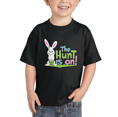 The Hunt Is On - Bunny Easter Egg Basket CHILDTEE T-Shirt