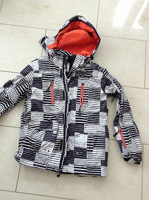 Boys Ski Jacket Black/white Size 152