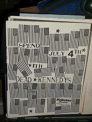 Dead Kennedys Show Promo Concert Flyer Mabuhay Gardens SF Mint/ Near Mint 1st