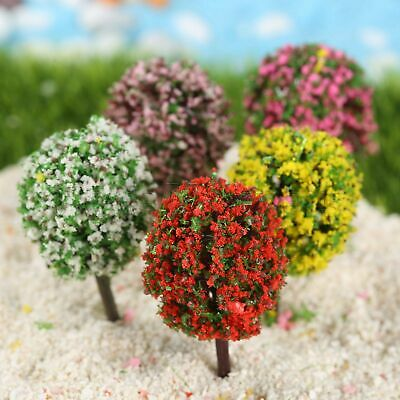 5pcs Mini Trees Bonsai Landscape Fairy Dollhouse Terrarium Garden Ornament Decor