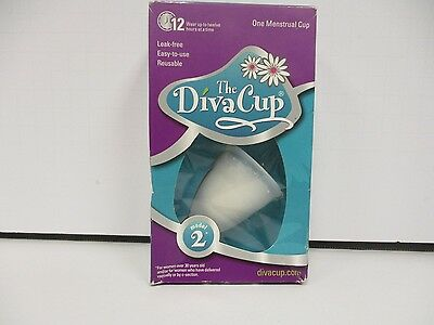 Diva International The DivaCup Model 2 Menstrual Cup 12 Hr Easy/Reusable DE 9554