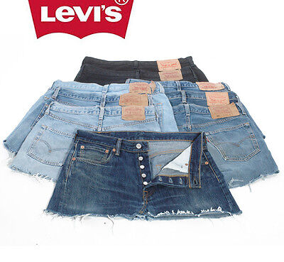 Vintage Levi 501 Denim Mini Skirts Vintage 26 27 28 29 30 31 32 33 34 36