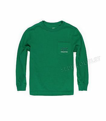 NEW Boys Vineyard Vines Shirt Holiday Light Whales Green L/S Size 5