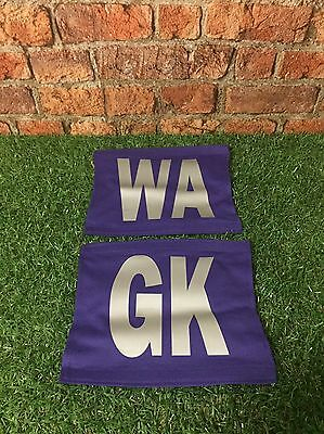 Purple Netball Patches With Velcro