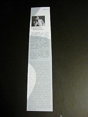 Marilyn Manson-The Pale Emperor 1 Hong Kong AD magazine clipping
