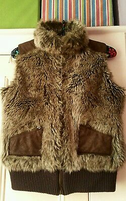 Lovely Ladies faux fur waistcoat/Gilet by Chilli.Size 12.
