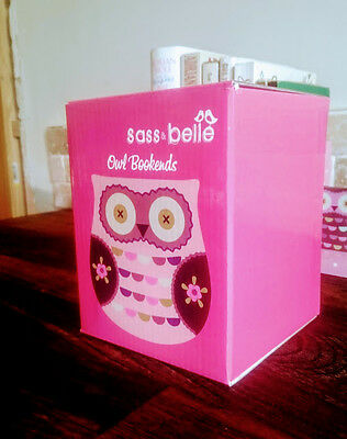 Wise Owl Wooden Book Ends Sass & Belle