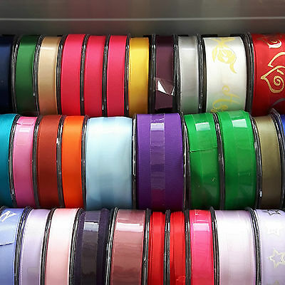 Clearance! 50 Full Retail Reels of Quality Woven Edge Ribbons, mixture of styles