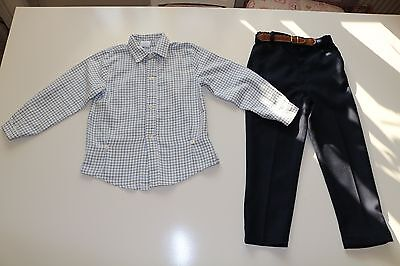 Babyferr- Spanish Vintage- Checked Shirt & Trousers Set Outfit- Boys 5 Years