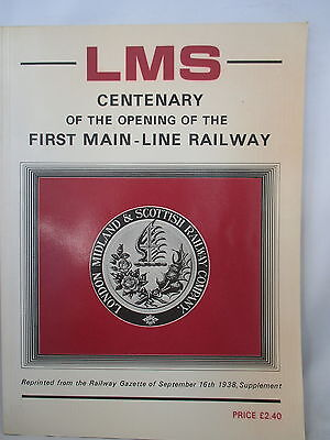 1938 Opening Of The First Main Line Railway Lms Centenary. Reprint