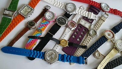 200 pc watch lot, need batteries, pre-owned,CASIO,FOSSIL,GENEVA, GOSSIP, RELIC,