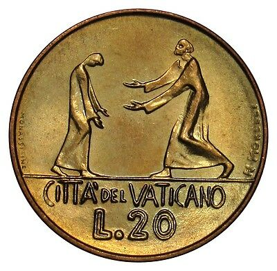 Vatican City 20 Lire coin 1978 KM#135 Paul VI Prodigal Son Parable UNC
