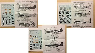 Repli-Scale : Planches Decals Completes P-51 Mustang 5049 1055 1058 1/72 1/48