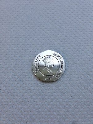 gibraltar 20p coin the flowers 2015