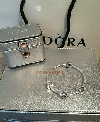 pandora bracelet and jewellery case and ring box