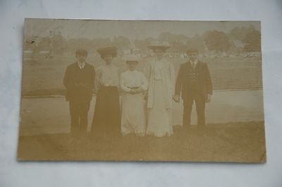 Postcard Photograph Edwardian Family, The Inch, Perth. Posted 1906