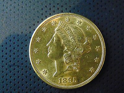 US Gold Coin 1895 S $20 LIBERTY HEAD GOLD DOUBLE EAGLE