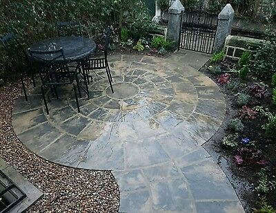 Paving circle rotunda for garden patio slab stone feature. free deliver