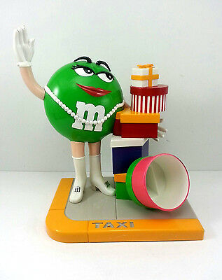 M & M Candy Dispenser Taxi Green M & M Gifts Presents