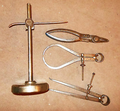 Vintage Gauges, Engineer's Tools.  'Moore & Wright'.  One Marked 1943.