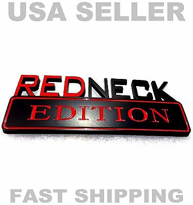 REDNECK EDITION old car PACKARD HUDSON STUTZ TRIUMPH EMBLEM logo decal BADGE red