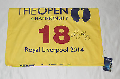 Rory McIlroy Autographed Open Royal Liverpool 2014 Golf Towel with COA