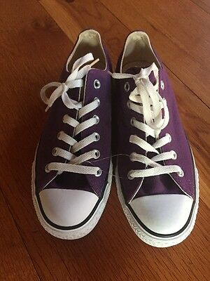 NEW CONVERSE ALL STAR CANVAS LOW TOP SNEAKERS LACE UP SHOES PURPLE M 7 W 9 Chuck