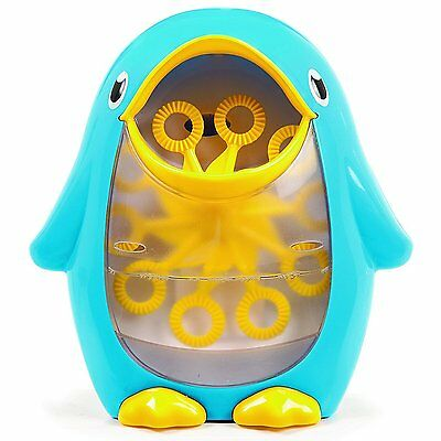NEW Munchkin Bath Fun Bubble Blower flow PENGUIN with suction cup BATH TOY 12m+