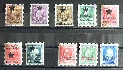 WWII SLOVENIA-ITALY-REVENUE STAMPS-NICE COLLECTION RR! croatia yugoslavia J1