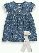 BNWT Next girl's dress and tights set 2-3 years