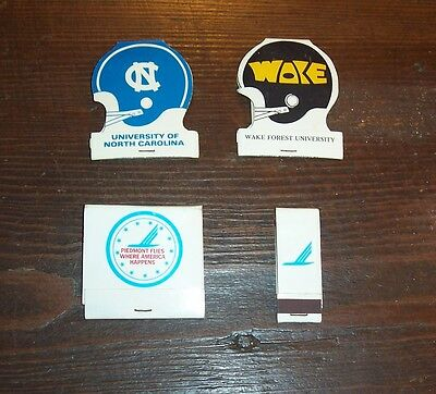PIEDMONT AIRLINES - Four  Different  Matchbooks  w/matches - Oldest dated 1977