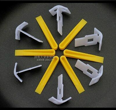 Tile Leveling System Clips + Wedges Floor Wall Plastic Spacers 100/200/500